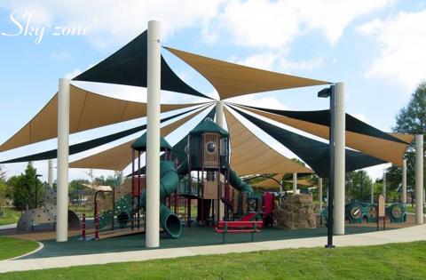 mái che ngoài trời cho khu vui chơi trẻ em