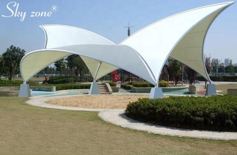 mái che cảnh quan cho không gian công viên